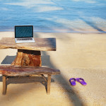 office on the beach