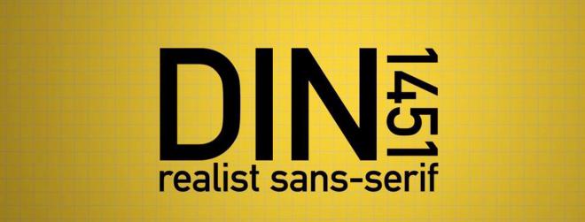 DIN 1451. Perché non si vive di solo Helvetica.