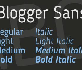 Questione di carattere: Blogger Sans.
