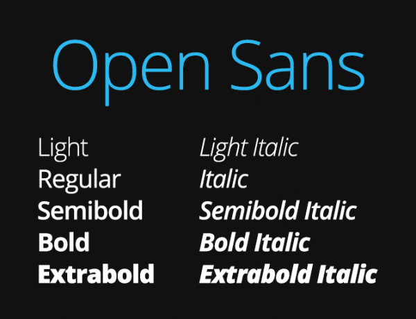 Questione di carattere: Open Sans.
