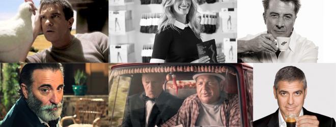 La pubblicità italiana parcheggia i divi di Hollywood?
